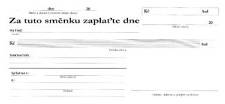 Směnka vlastní a podpis